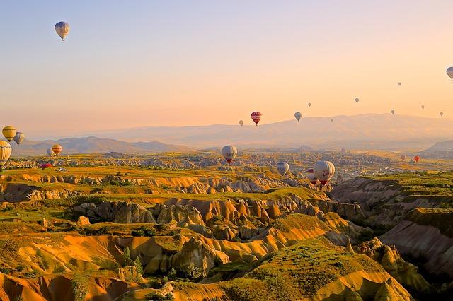 Let balonom iznad Kapadokije